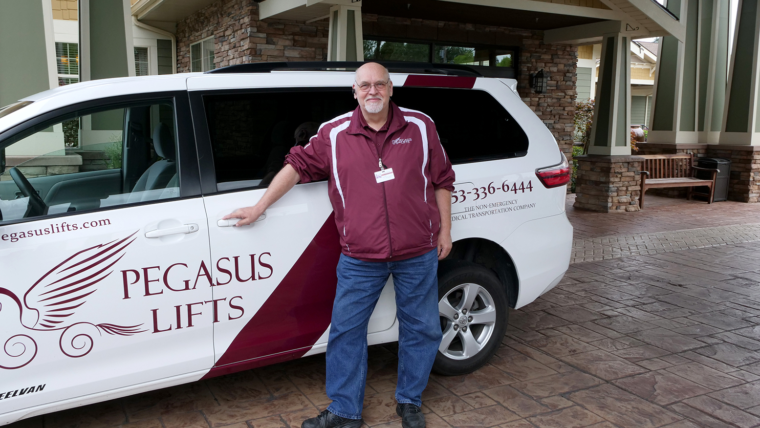 Pegasus Lifts professional non-emergency medical transporation